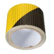 Черная, желтая, светоотражающая, предупреждающая видимость, лента, пленка, наклейка, 300 см x 5 см, товары для безопасности на рабочем месте Предупреждение ющая лента