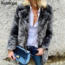 Faux Fox Fur Short Coat 2018 Female Autumn And Winter Plush Leather Jacket Shawl Coletes Femininos De Pele