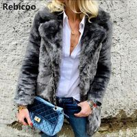 Faux Fox Fur Short Coat 2018 Female Autumn And Winter Plush Leather Jacket Shawl Coletes Femininos De Pele