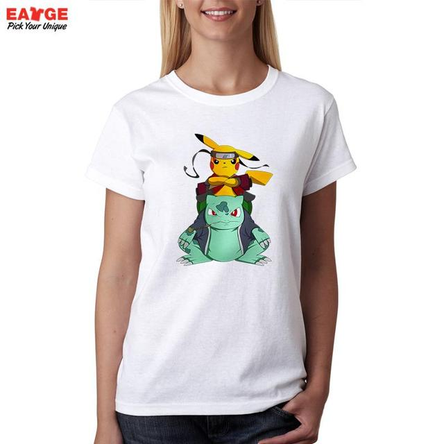 Anime Characters Naruto Pokemon T-shirt