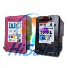 2 stücke Für 301 XL Schwarz und Tri-Farbe Für HP 301XL Tinte...