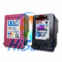 2pcs For 301 XL Black and Tri-Colour For HP 301XL Ink Cartridge For HP Deskjet 1050 1050se 1050A 2050A 2054A 3050A laser Printer