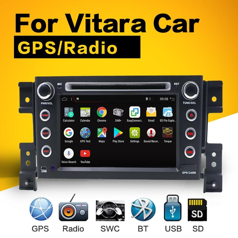 2G RAM Android 7.1 Car DVD For Suzuki Grand Vitara 2005 2006 2007 2008-2011 16G Radio GPS Multimedia Player Head Unit цена