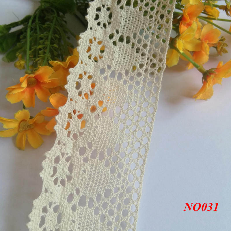 15yd/lot 55MM Cotton Lace Apparel Sewing Fabric DIY Lace Ribbon cord Trim Cotton Crocheted Lace Fabric Ribbon Handmade Accessor