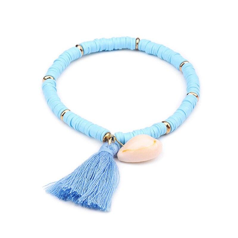 Multicolor Shell Tassel Bracelet 3