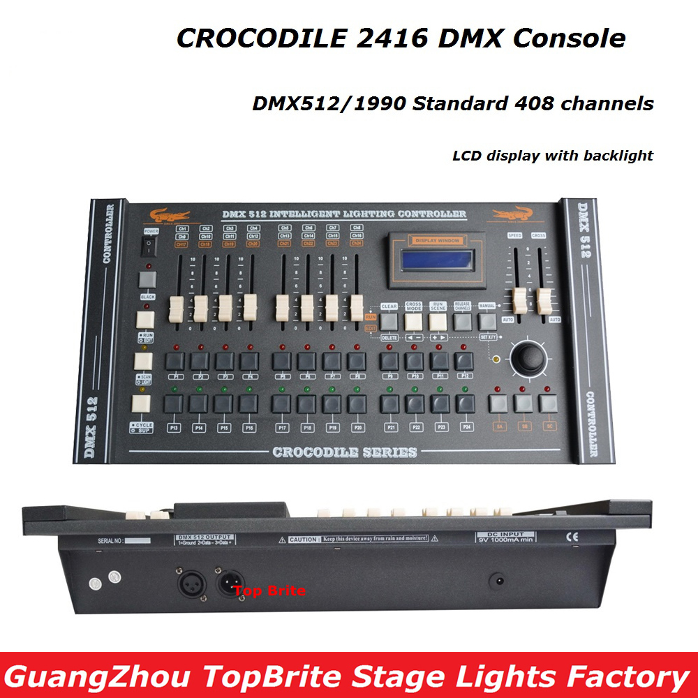 Free Shipping 1Pcs CROCODILE 2416 Disco DMX Controller DMX 512 DJ DMX Console Equipment For Stage Party Wedding Event Lighting tsss 192 channels dmx512 controller console stage lighting programmer party dj disco operator equipment