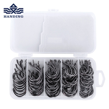 Handing #1-#5 140pcs High Carbon Steel Fishing Hooks Set Freshwater/saltwater SHARP BARBED Fishhook for carp fishing hooks