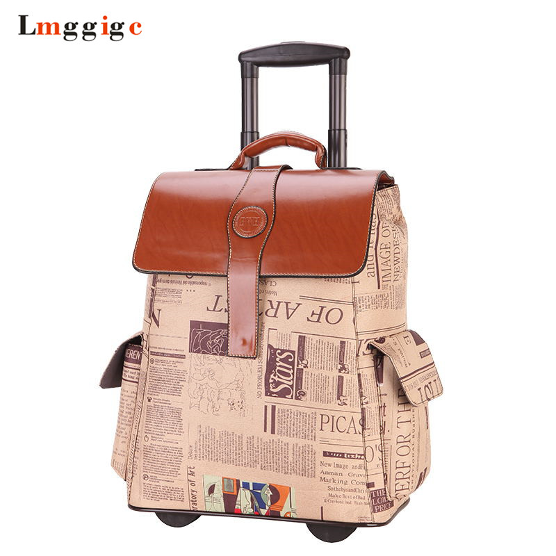 Rolling Luggage Travel Suitcase bag,Oxford cloth Backpack, shoulder bag with Wheel,Personality Box ,1618inch Trolley Case