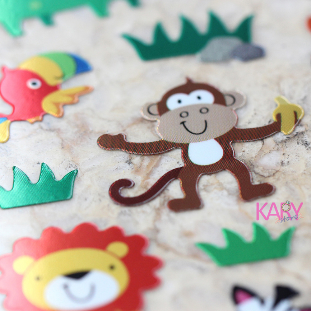 High Quality Scrapbooking Emoji Reward Kids Children Animals Zoo Forest Parrot Monkey Crocodile Zebra Lion Shiny Foil StickersHigh Quality Scrapbooking Emoji Reward Kids Children Animals Zoo Forest Parrot Monkey Crocodile Zebra Lion Shiny Foil Stickers