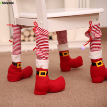 Christmas Restaurant Tables Chairs Feet Household Items Table Protection Sets Creative Decorations
