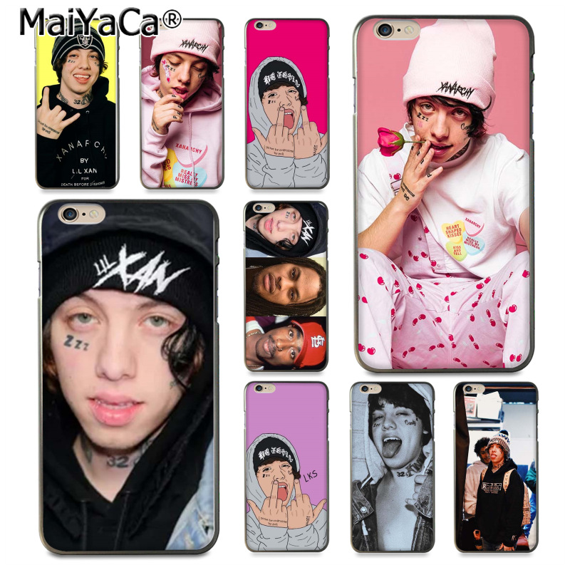 maiyaca lil xan rapper colorful printing drawing tpu phone case for iphone 8 7 6 6s
