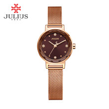 2017 Nouveau JULIUS Femmes Montre Top Marque Or Acier Maille Ceinture Bracelet Heure Horloge Montre Femme Reloj Mujer Erkek Kol Saati JA-917