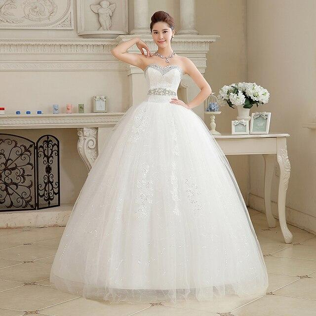 Robe Mariage Mariée De 2017 New Blanc Tube Top Sweet Sex Princesse Yb76vgfy