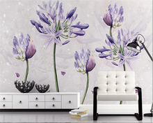 beibehang Simple and stylish waterproof papel de parede tapety wallpaper American small fresh lavender pastoral background wall
