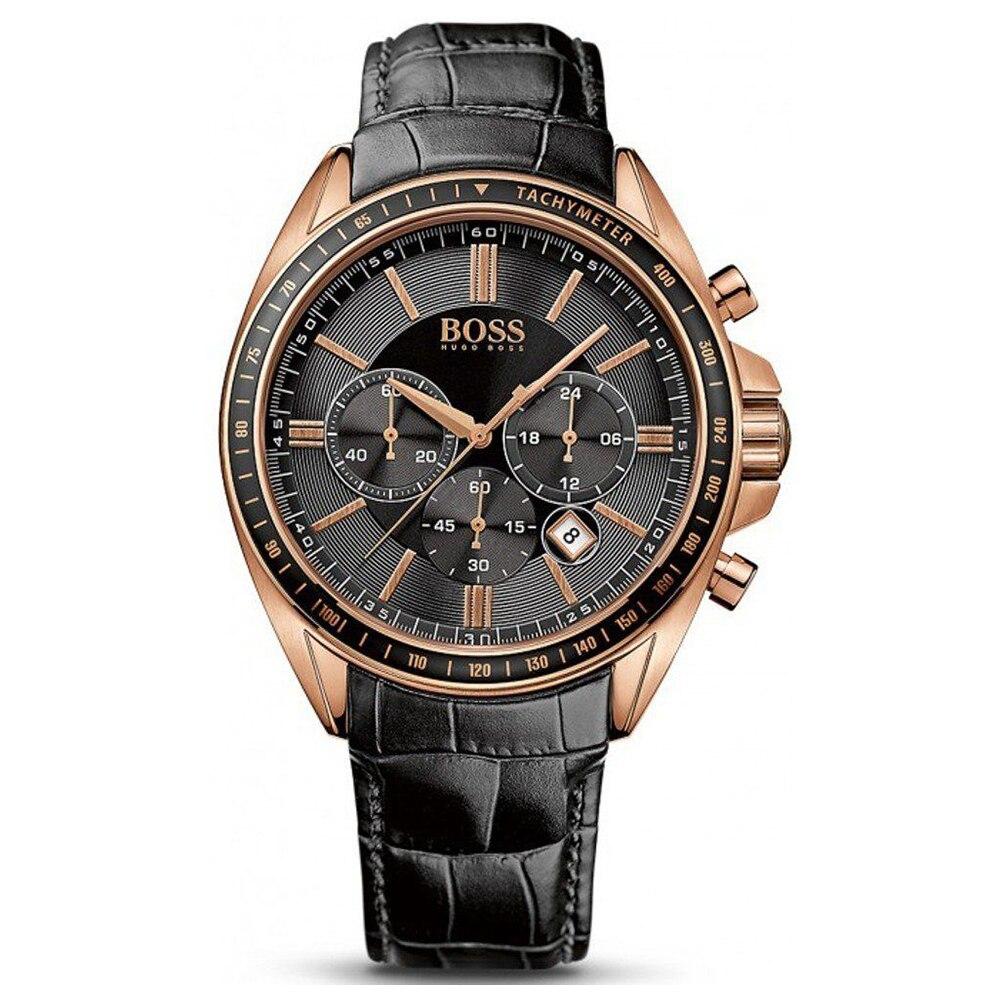 BOSS Германия часы для мужчин Элитный бренд Nurburgring multi-function хронограф Браслет мужские часы кожаный ремень манера sehen
