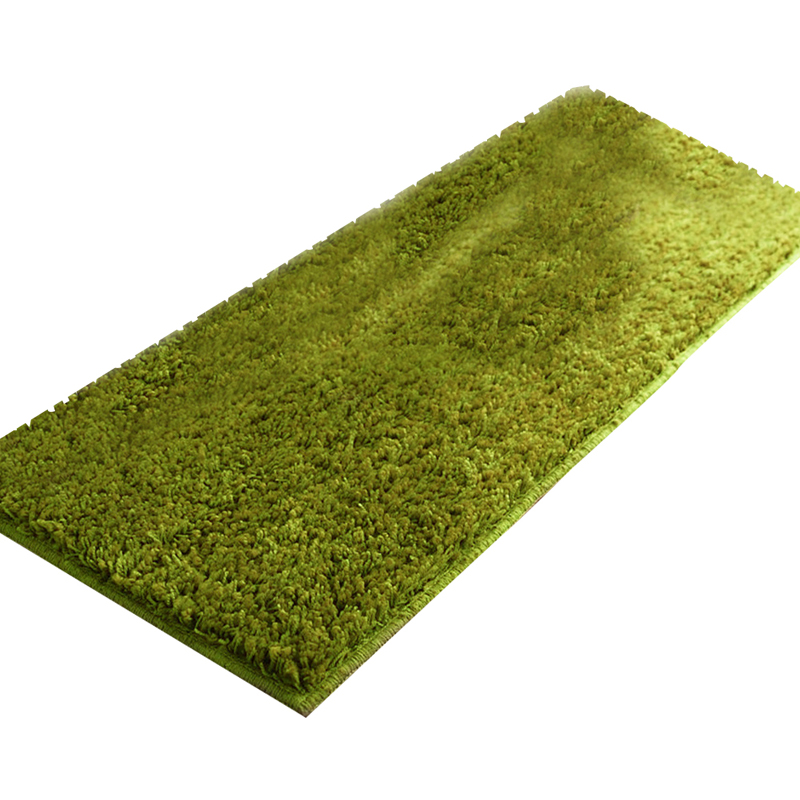 EHOMEBUY Green Rug Plush Long Absorbent Rugs Kitchen Bathroom Carpets Green Modern Fashion Comfortable Soft Machine Washable