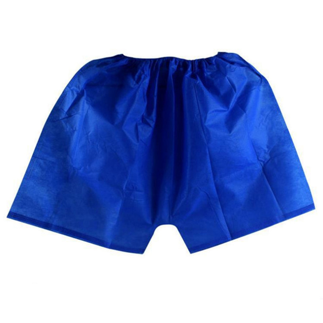 a1aca468716e 25pcs/lot Mens Underwear Boxers Non-Woven Boxer Shorts Disposable Sauna Shorts  Underwear Men