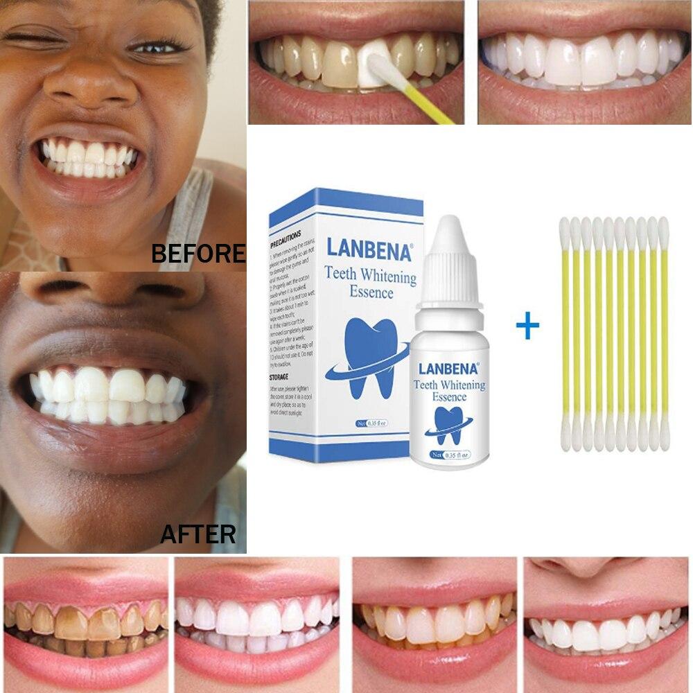 LANBENA blanchiment des dents Essence poudre hygiène buccale nettoyage sérum élimine les taches de Plaque dentaire blanchiment des dents outils dentaires dentifrice