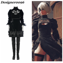 Anime cosplay NieR: Automata game costume YoRHa No.2 Type B 2B cos Woman Halloween party dress props suit S-XXXL