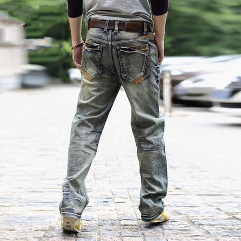 Nouveau Pour Mode Smart 2 Pantalons Longueur Lâche Droite 2018 Casual 40 Jeans Pantalon Plus 1 Pleine Fit Homme Hommes Taille Cowboy Jean Biker La 8Ygngrdqwx