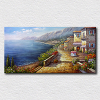 Natural scenery wall art canvas painting for living room high quality reproduction oil painting for friends gift