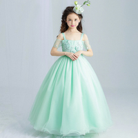 2017 Flower Girls Teenager Kids Dresses For Girls Clothes Evening Party And Wedding Birthday Princess Elegant Dress 3 14 Years