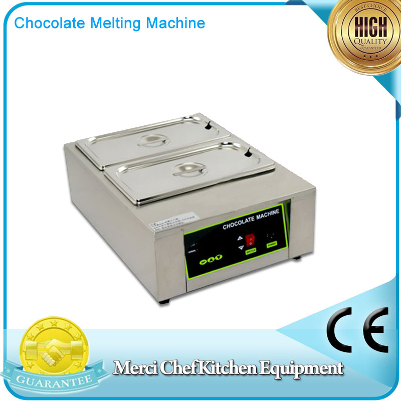 Digital Chocolate Melting Machine Stainless Steel Chocolate Machine With 2 Pans Household and Commercial Machine fast shipping food machine 6 layers chocolate fountains commercial chocolate waterfall machine with full stainless steel