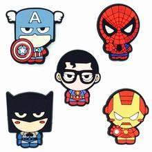 Cartoon Hero Series Flatback Soft PVC Charms Fit Keychain/Fridge Magnet/Clogs/Phone Case/iP