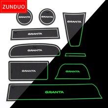 ZUNDUO Porta slot pad Per LADA GRANTA tappetini antiscivolo Porta per Interni Pad/Tazza rossa/blu/ bianco stuoie 16 PCS 9 PCS 7 PCS