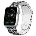 38mm 42mm for Apple Smart Watch  Skull pattern Silicone Band Released Sport Band with Pin-and-Tuck Closure Strap for Apple Watch