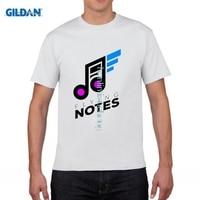 GILDAN DIY Style Mens T Shirts MUSIC NOTES Design New Men S T Shirt Cotton Rock