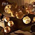 Американская многогранная Хрустальная металлическая люстра из нержавеющей стали  Современная Геометрическая Люстра для ресторана
