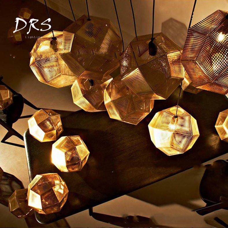 American Stainless Steel Multi Faceted Ball LED Metal Chandelier Modern Light Geometry Restaurant Staircase Chandelier