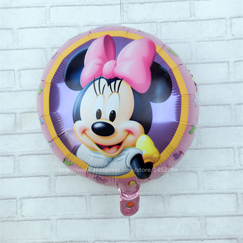 XXPWJ Recommended! Aluminum balloons wholesale space ball toys for children 18-inch round Minnie Mouse balloon wholesale K-009 ...