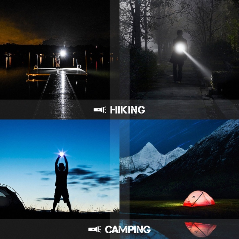 Купить с кэшбэком NEW USB Rechargeable Flashlight T6 Led Flash light Zoomable 3 modes torch for 18650 with USB cable Camping fishing running