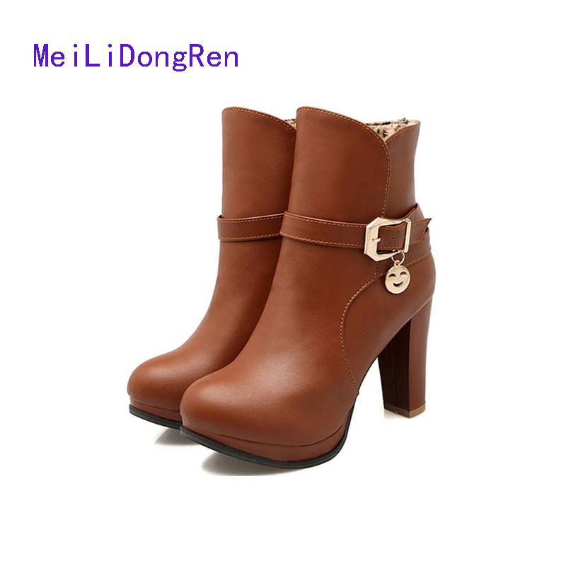 Online Get Cheap Ladies Brown Ankle Boots -Aliexpress.com ...