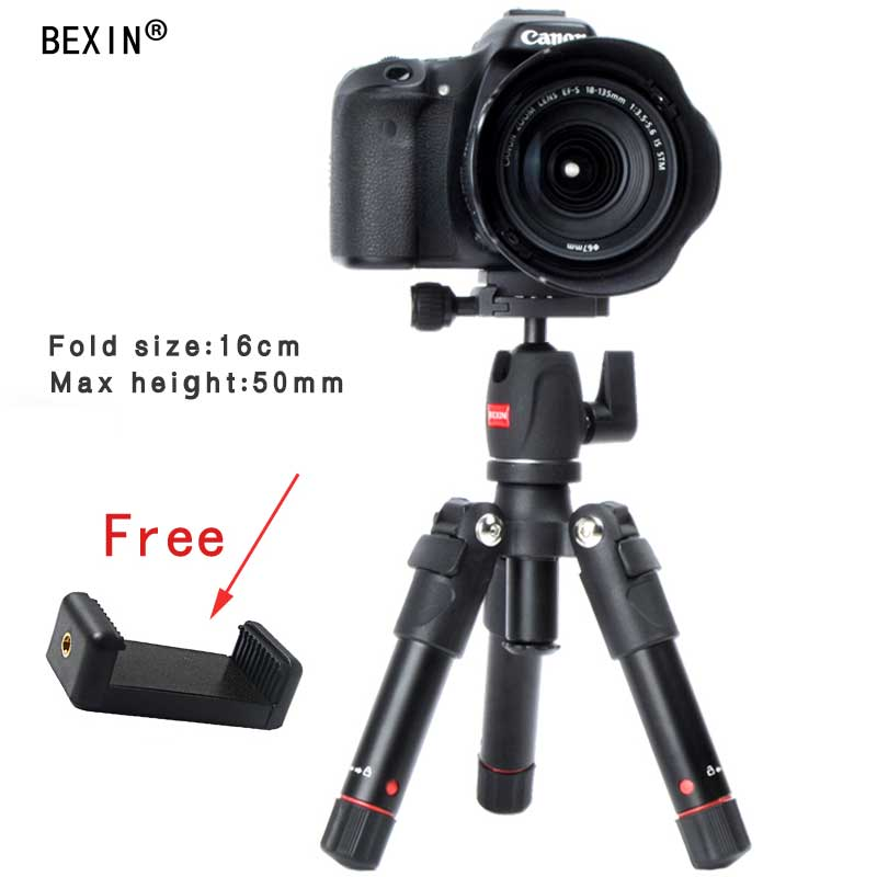 Portable Foldable Light compact macro ministativ tripod ball head with Ball Head for Smartphone Canon Nikon DSLR shooting Camera neewer 20 inches portable compact desktop macro mini tripod ball head 1 4 inches quick shoe plate for canon camera tripods dslr