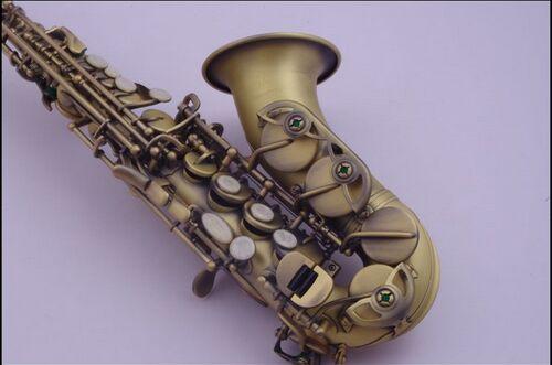 soprano saxophone DHL free shipping Suzuki children elbow saxophone in b-flat soprano footnote surface saxofone green bronze