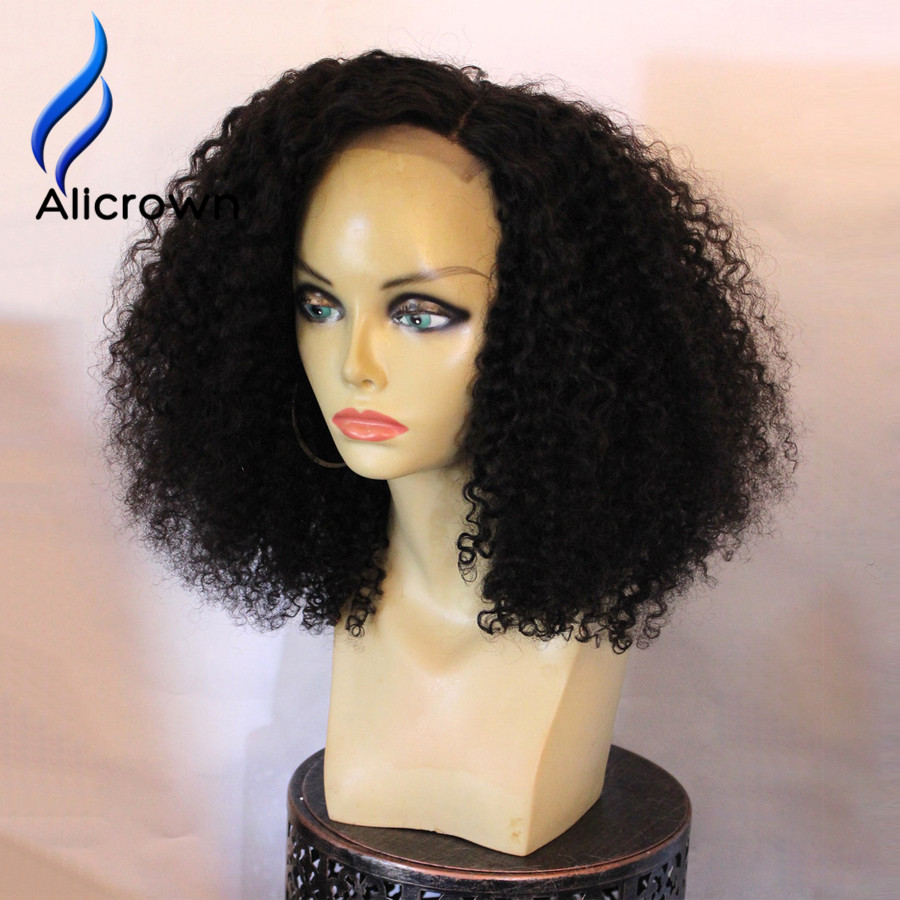 alicrown 180 density lace front wig afro kinky curly wig
