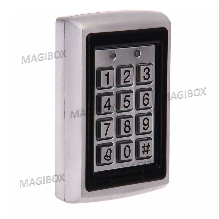 Explosion proof Door Access Controller Proximity Card Reader with Keypad Metal Durable with 10 keyfob metal rfid em card reader ip68 waterproof metal standalone door lock access control system with keypad 2000 card users capacity
