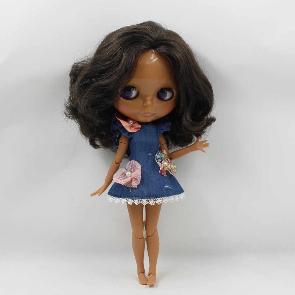 Наряды для кукол Blyth, джинсовое платье, костюм для 1/6, azone BJD pullip licca
