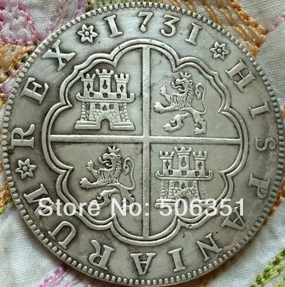 1731 Spanien 8 Reales Münzen In 1731 Spanien 8 Reales Münzen Aus