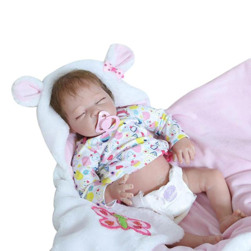 NPK 55cm Cute Silicone Imitation Reborn Baby Classic Doll Kids Sleeping Playmate Cotton Soft Toys Kids Birthday GiftsNPK 55cm Cute Silicone Imitation Reborn Baby Classic Doll Kids Sleeping Playmate Cotton Soft Toys Kids Birthday Gifts