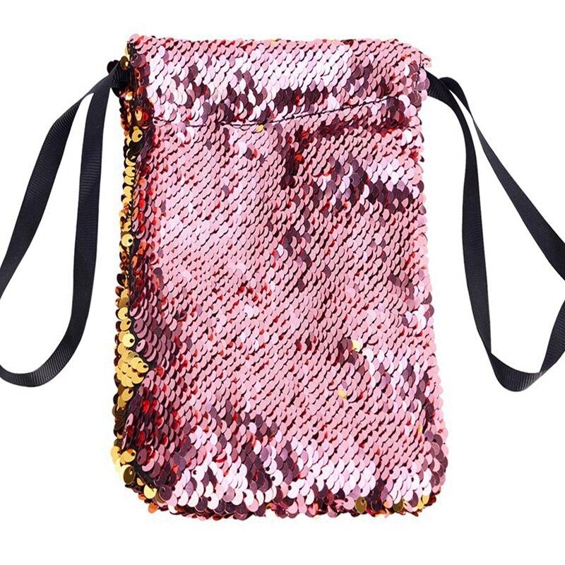 Обувь для девочек со стразами, отделение для хранения монет, держатель для карточки-ключа Организатор сдачи с симпатичным узором в горох для денег Портативный маленькие кошельки сумка чехол - Цвет: Pink gold