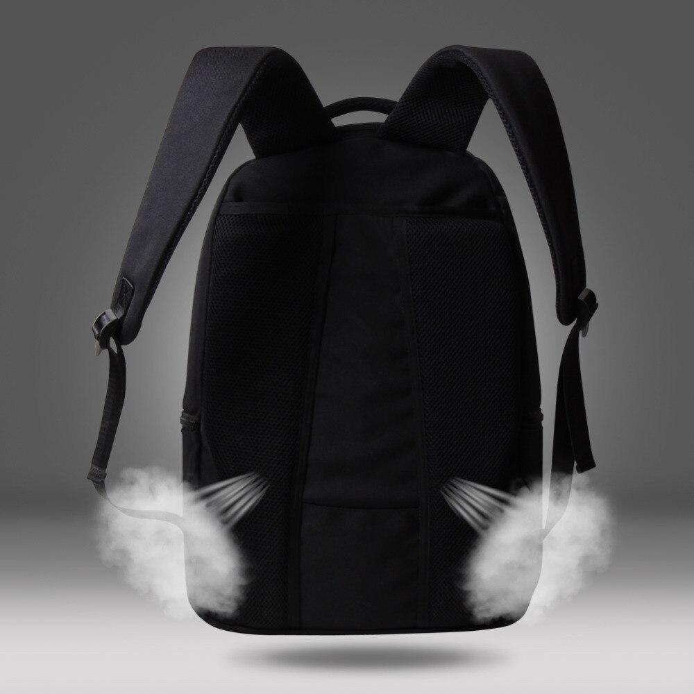 Dispalang Animal impression ordinateur sacs à dos mignon hibou sacs d'école pour adolescents collège étudiants ordinateur portable sac à bandoulière Mochila - 2