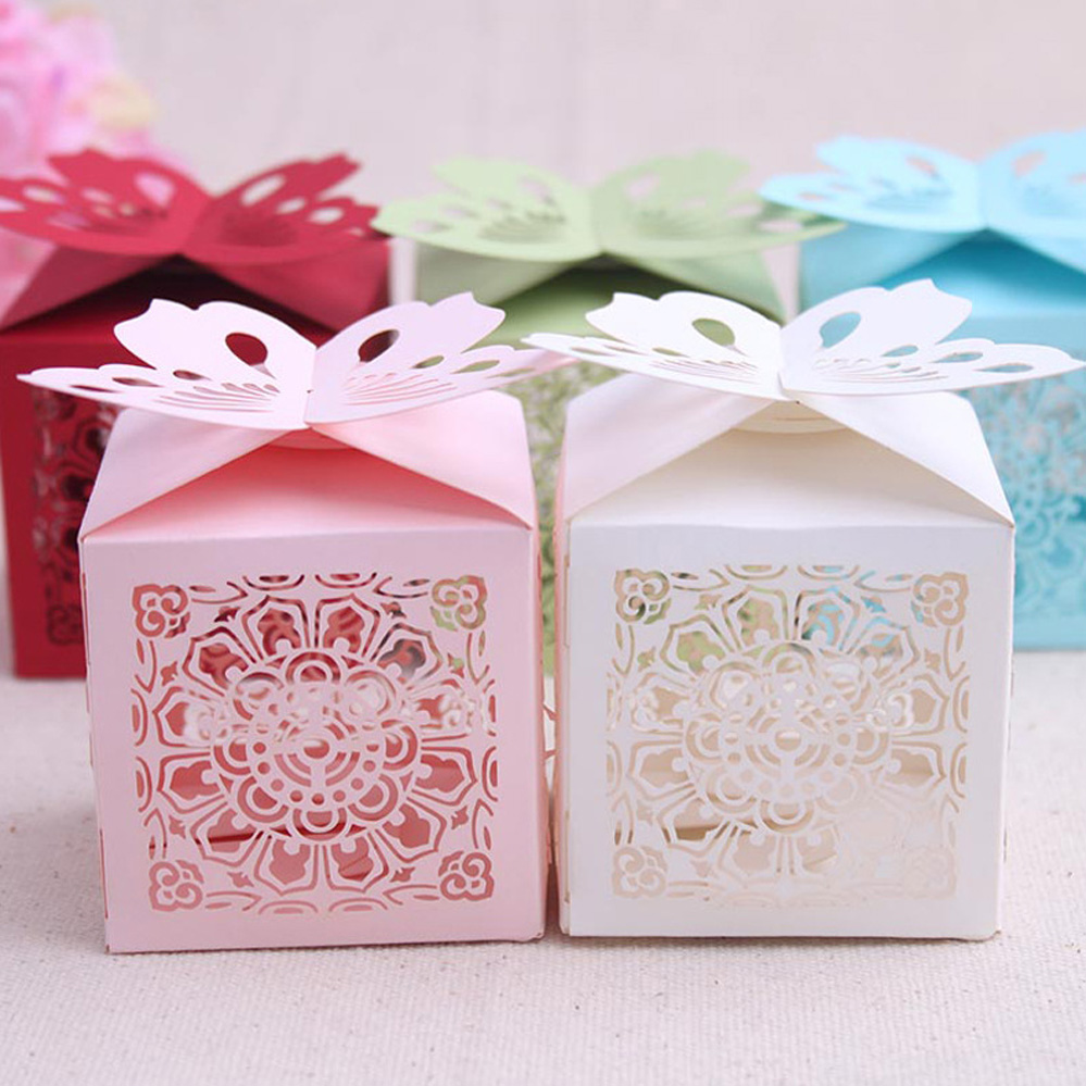 Popular Butterfly Boxes Wedding Buy Cheap Butterfly Boxes Wedding Wedding  Supplies Candy Box Laser Cut Cupcake