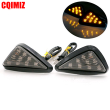 цена на 2PCS Triangle Motocross Turn Signal Lamps Piranha Light Motorcycle Flasher 9 LED Turn Signal Light Motorbike Indicators Blinker