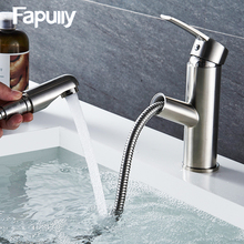 Brass faucet pull out desigh single lever Stainless steel sink kitchen