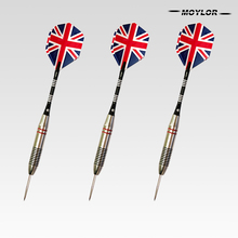 Moylor 6Color 3pcs/Set Professional  Tungsten Steel National Flag Pattern Darts Needle Tip with Dart A