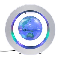 Home Decor Magnetic Levitation 4 Inch Globe Anti Gravity Education Teaching with LED Light Home Decoration Accessories